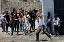 Palestijnse demonstranten raken slaags met Israëlische militairen