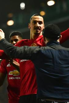 Invaller Ibrahimovic schiet ManUnited ronde verder in FA Cup