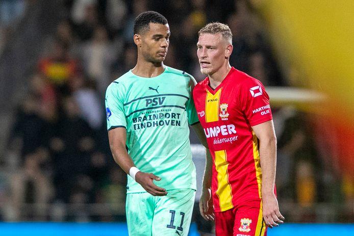 Cody Gakpo en Joris Kramer.    during the match Go Ahead Eagles - PSV