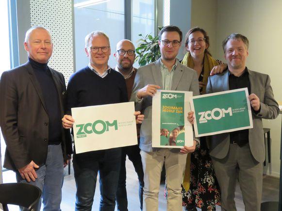 Jan Buyl, Fangio Hoorelbeke, Diter Den Baes, Kenny Verspaille, Lieselot Vermeeren en Joerie Manhout kijken uit naar de start van Zoom Roeselare op 1 september