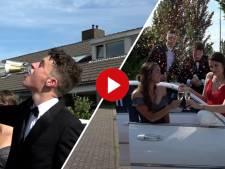 Video van de Dag | Deze vier geslaagden hebben tóch een gala om het te vieren, met champagne in de limousine