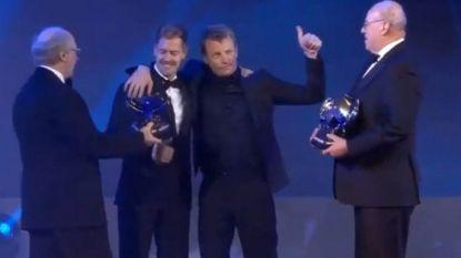 Hamilton krijgt trofee van 'Personality of the Year', maar het is dronken Kimi Räikkönen die de show steelt op gala