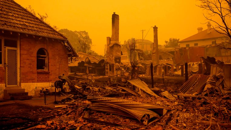 Het uitgebrande dorpje Cobargo. Beeld AFP