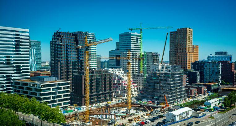 Gebouwen en kantoren aan de Zuidas in Amsterdam. Beeld ANP