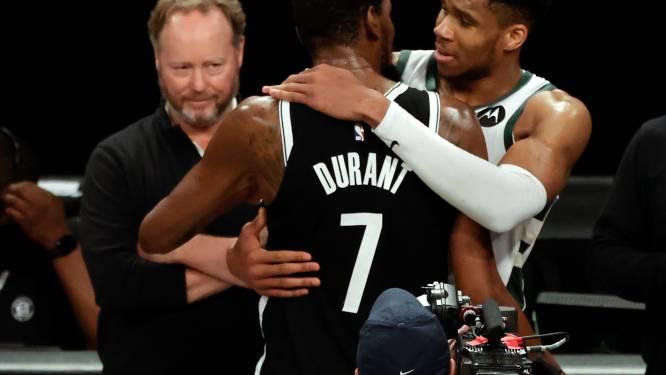 Giannis stoot door, Durant druipt af ondanks nieuw record: Bucks verrassen Nets na overtime in allesbepalende game 7