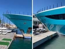 Un yacht hors de contrôle s'écrase contre un quai dans les Caraïbes