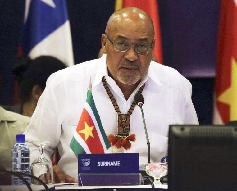 De Surinaamse president Desi Bouterse.