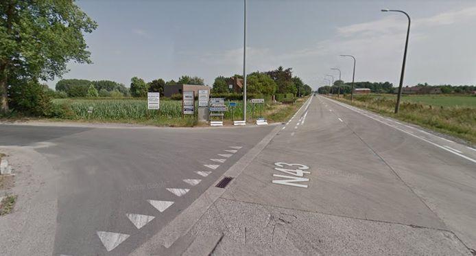 Het ongeval gebeurde op de Staatsbaan in Zulte