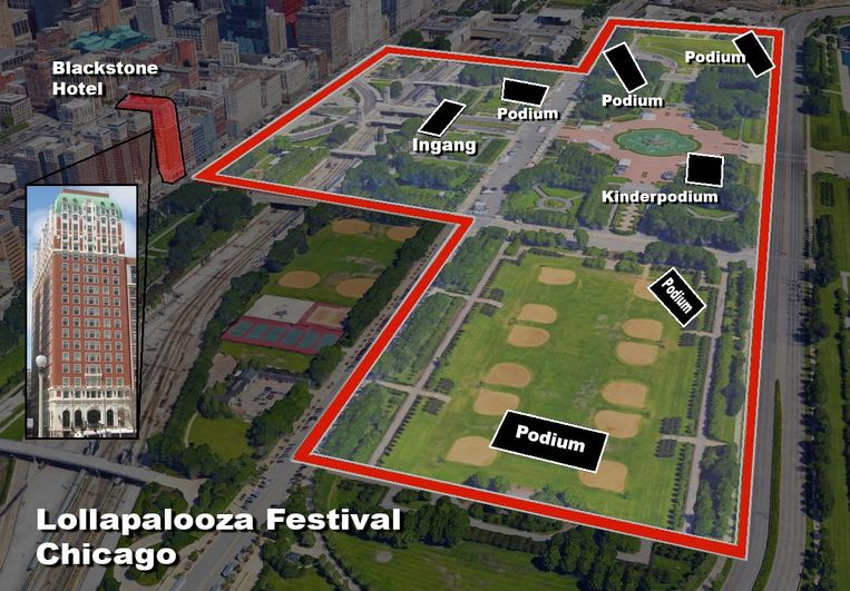Paddock wou wellicht op Lollapalooza in Chicago toeslaan.