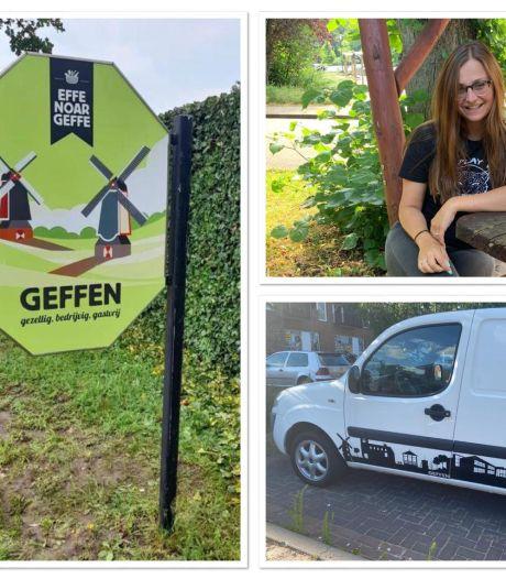 Ontwerpen van Iva vallen op in haar dorp Geffen: 'Gaaf om je eigen creatie te zien shinen'