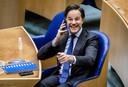 Mark Rutte (VVD) tijdens de verkiezing van de nieuwe voorzitter van de Tweede Kamer.
