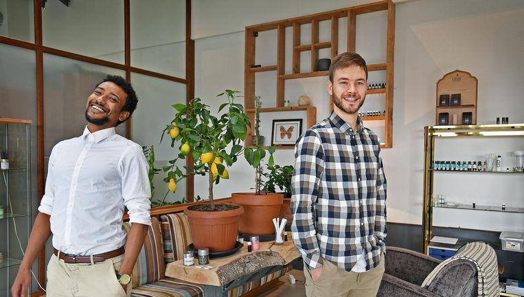 Jonathan Berhani en Roel Holtland, oprichters van The Ohm Collection. Beeld Guus Dubbelman / de Volkskrant