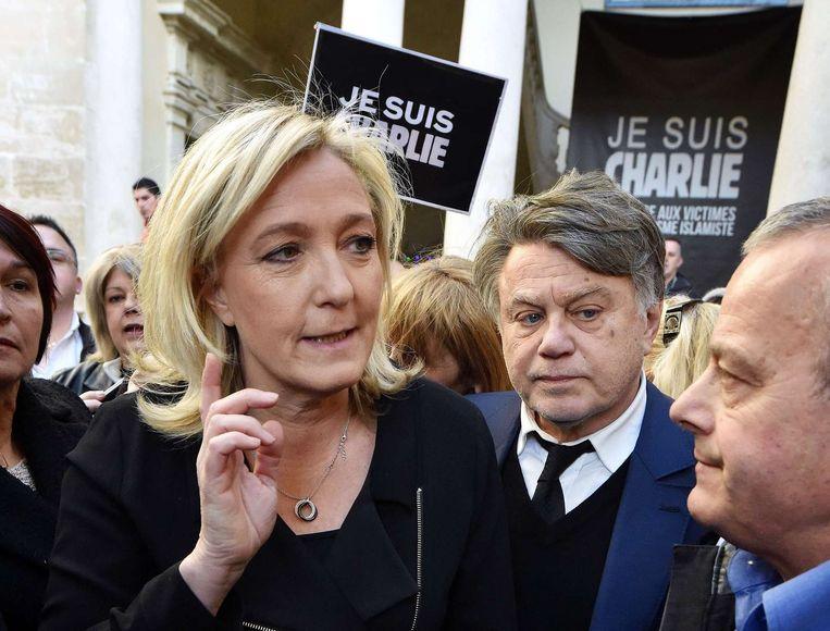 Marine Le Pen, partijleidster van het extreem-rechtse Front National Beeld ANP