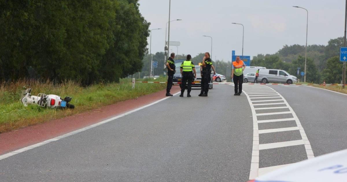 Man overlijdt aan verwondingen na ongeval met scooter.