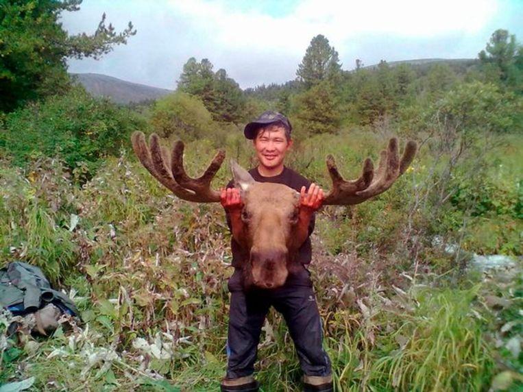 De Rus was in de streek op zoek naar geweien van herten en elanden.
