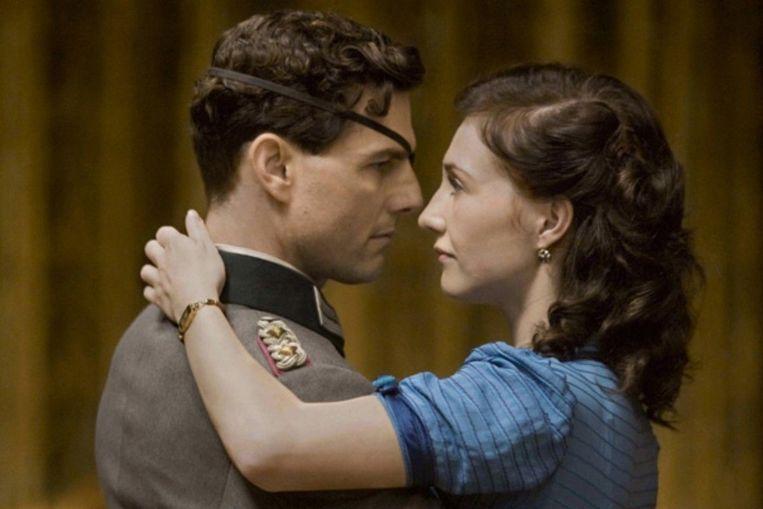 Tom Cruise en Carice van Houten in 'Valkyrie' van Bryan Singer Beeld