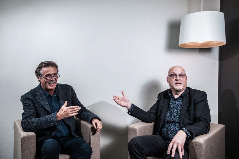 Wim Distelmans en Willem Lemmens. Beeld Jonas Lampens
