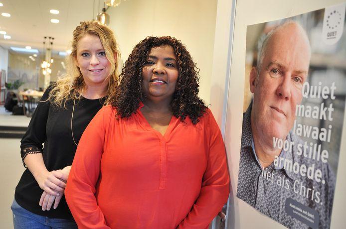 Tatjana Dekker (links) van Quiet Drechtsteden met member Arlette Balochie.