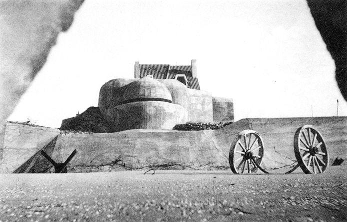 Een bunker in Koksijde.