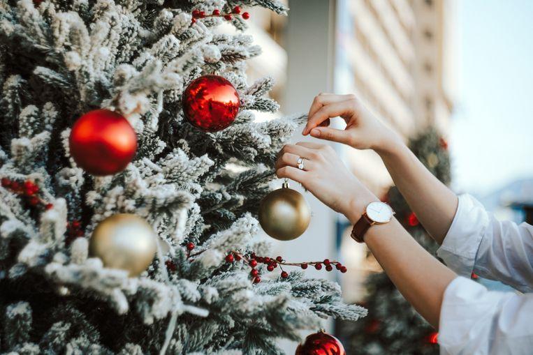 Kerstshow opbouwen Beeld Getty Images