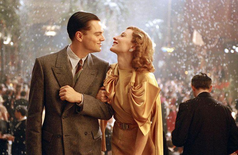DiCaprio, met Cate Blanchett als Katharine Hepburn: 'Hughes was de Casanova van zijn tijd: hij deelde de lakens met zowat elke Hollywoodster. Zéér interessante rol' Beeld