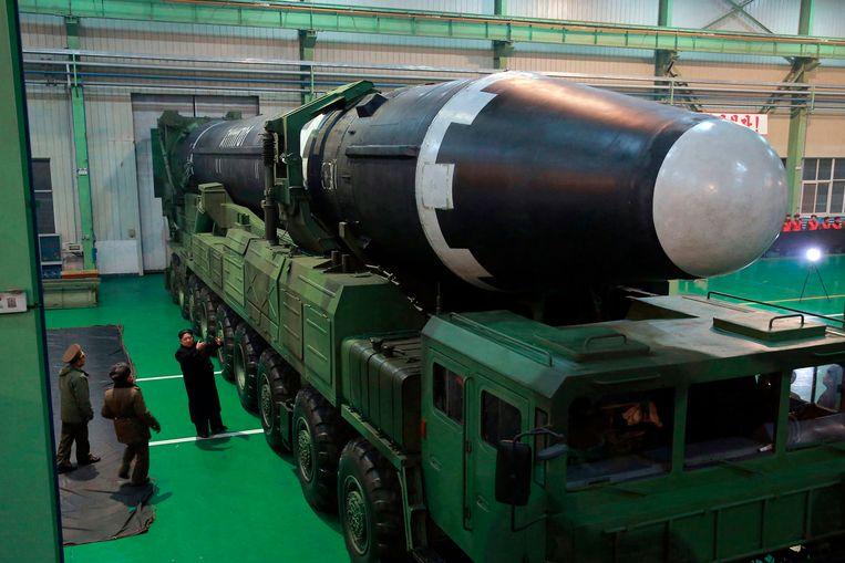 Een Noord-Koreaanse kernraket Beeld AP