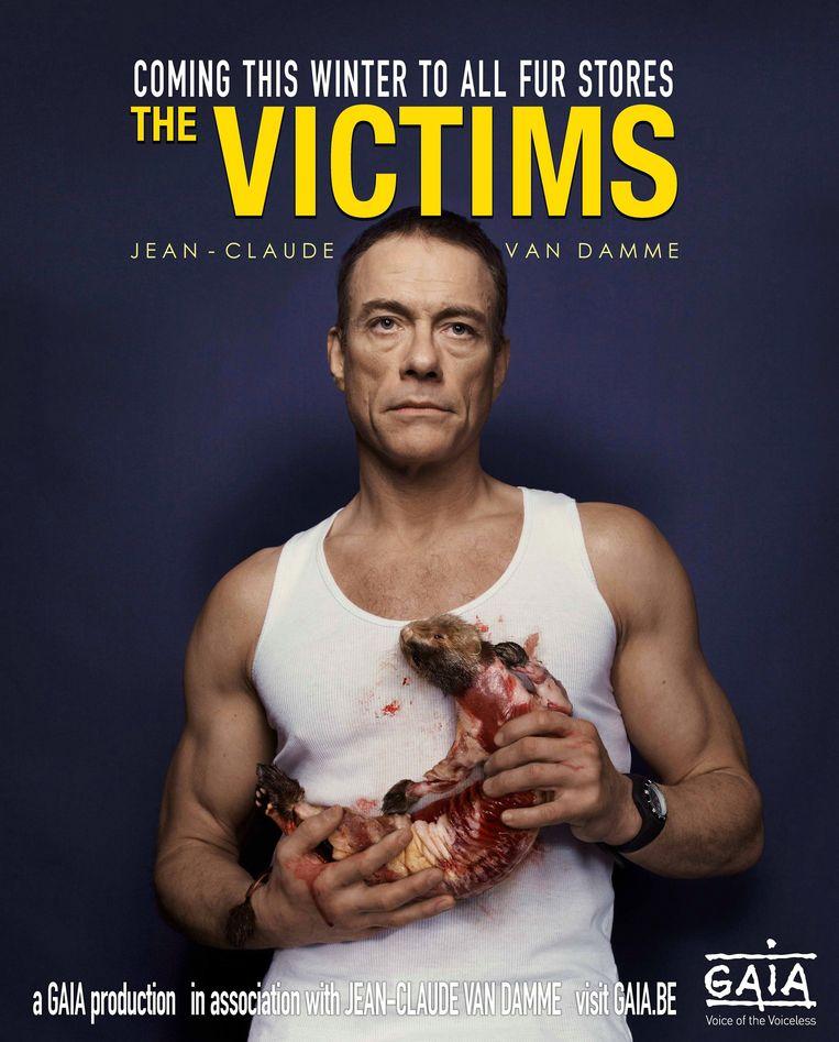 2011. Uit de campagne 'Red het vel van de nerts': Jean-Claude Van Damme doet ook mee. Beeld RV