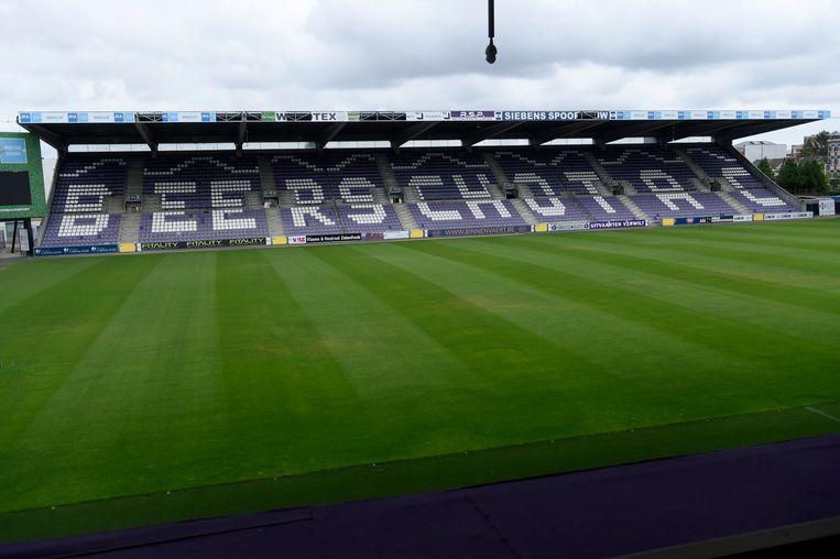 Het stadion van Beerschot. Damen: 'Ik ben verknocht aan het Kiel, maar de toegangswegen zijn gruwelijk. We hebben een stadion met comfort en een vlot bereik nodig.' Beeld Photo News