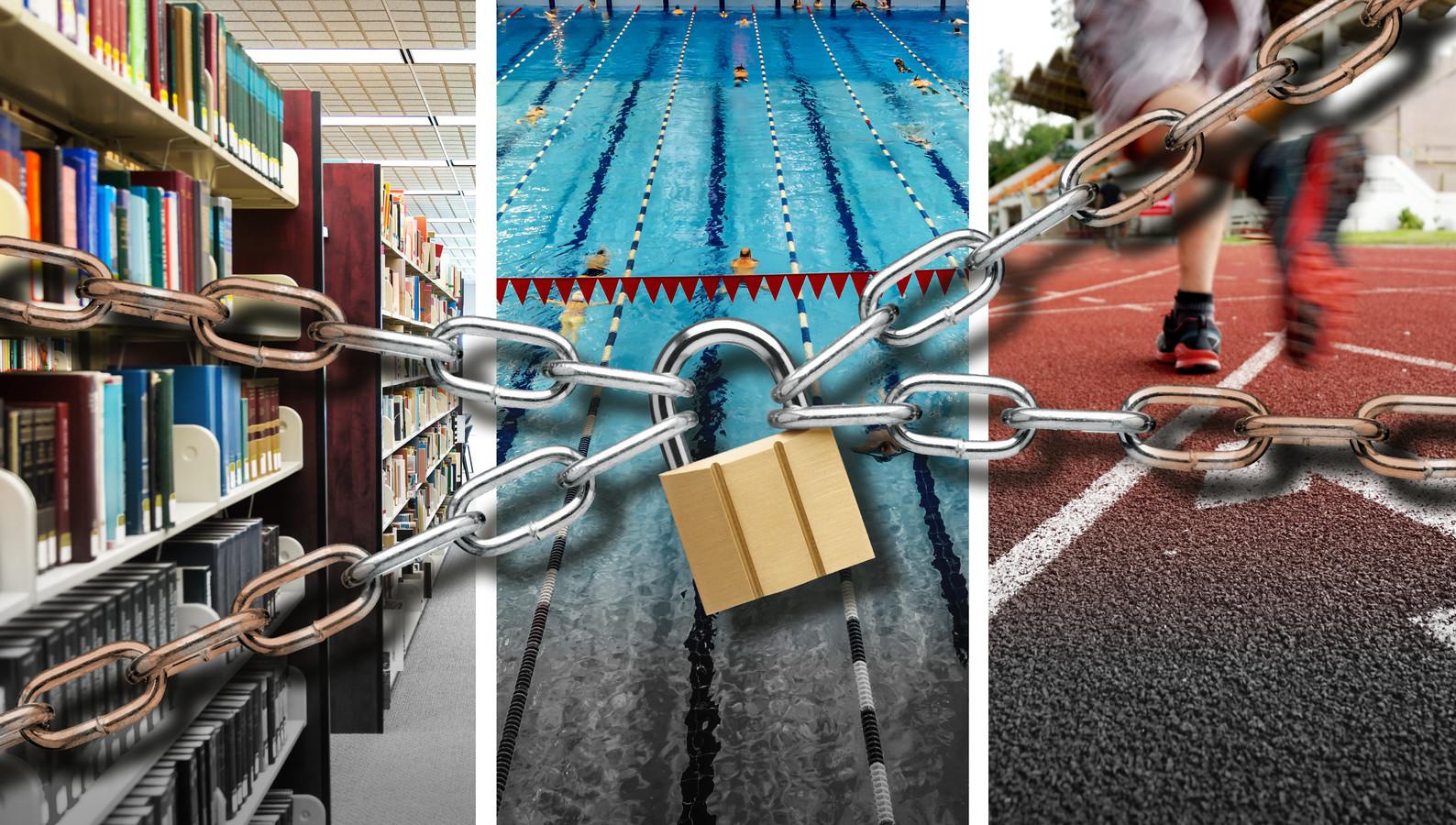 Volgens grote en middelgrote steden moet er zo hard bezuinigd worden dat bibliotheken, zwembaden en sportvoorzieningen mogelijk dicht moeten.