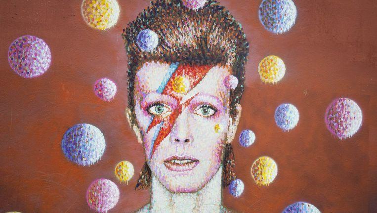 Een muurschildering ter ere van David Bowie in Brixton. Beeld Getty Images