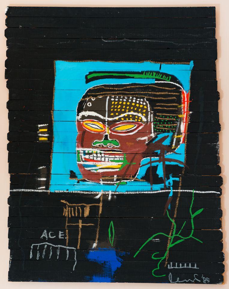 Jean-Michel Basquiat. Untitled (Word on Wood), 1985. Beeld © Estate of Jean-Michel Basquiat. Licensed by Artestar, New York.