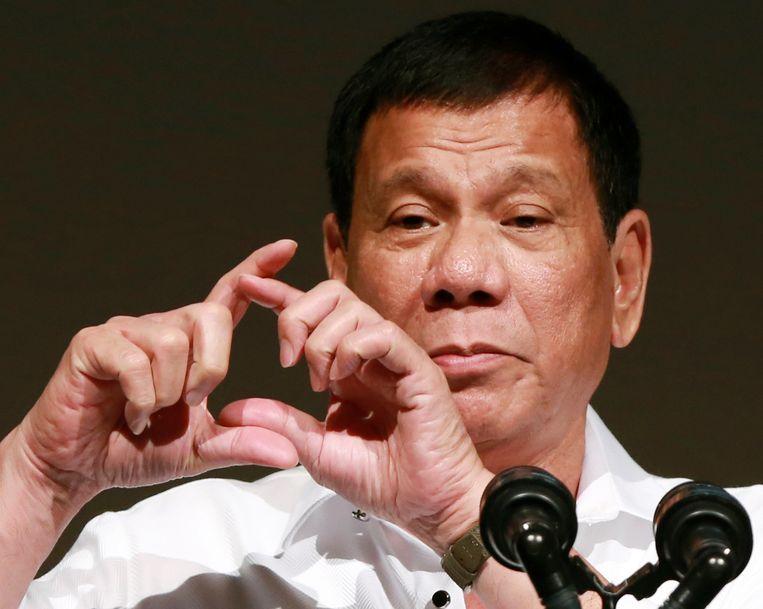 President Duterte. Beeld AP
