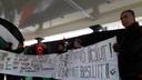 Palestijnen in Middelburg zwaaiden met vlaggen en toonden spandoeken