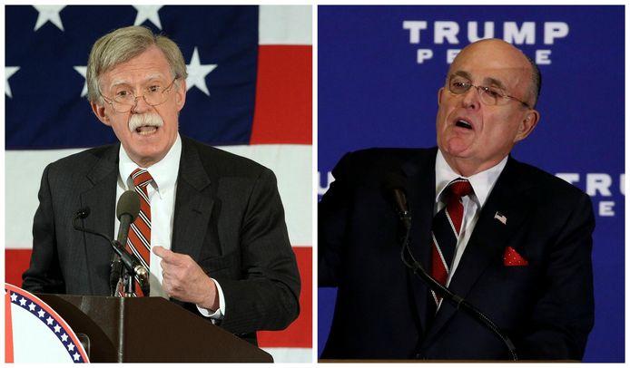 John Bolton en Rudy Giuliani.