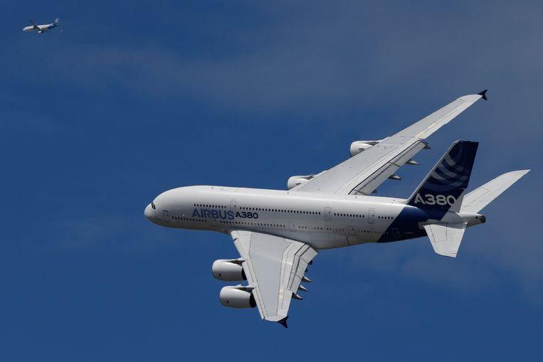 De dubbeldeks Airbus A380 is geen succesnummer geworden. Beeld REUTERS