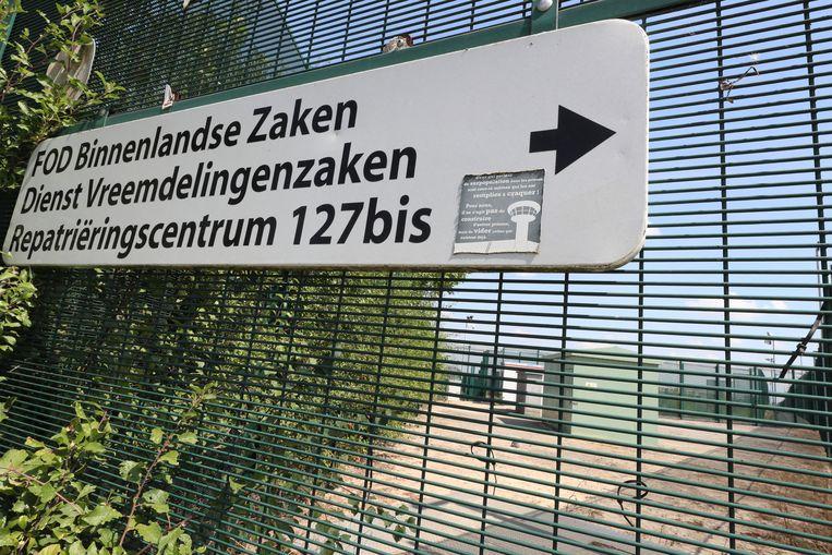 Het gesloten centrum 127 bis in Steenokkerzeel. Beeld BELGA