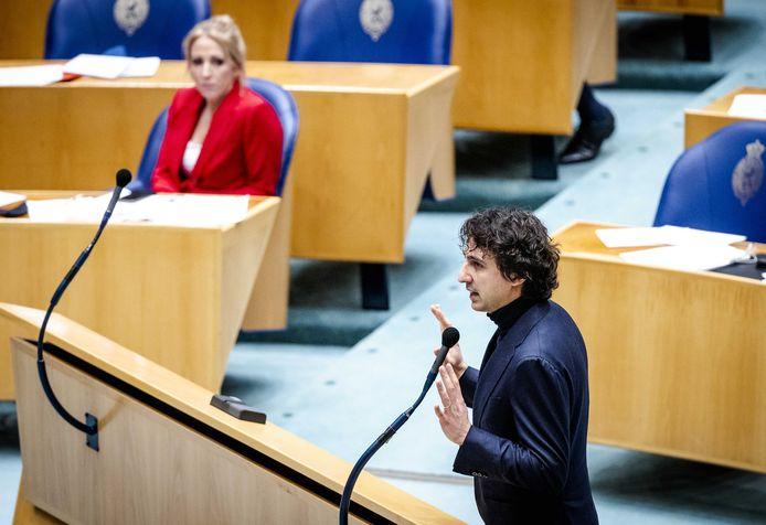 Lilian Marijnissen (SP) en Jesse Klaver (GroenLinks) tijdens een Kamerdebat