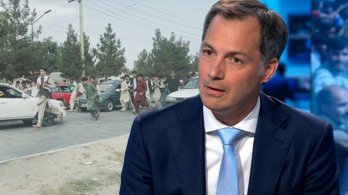 Premier Alexander De Croo (Open Vld) in de VTM Nieuws-studio.