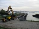 In oktober werden al noodingrepen uitgevoerd om te vermijden dat de kaaimuur zou instorten.
