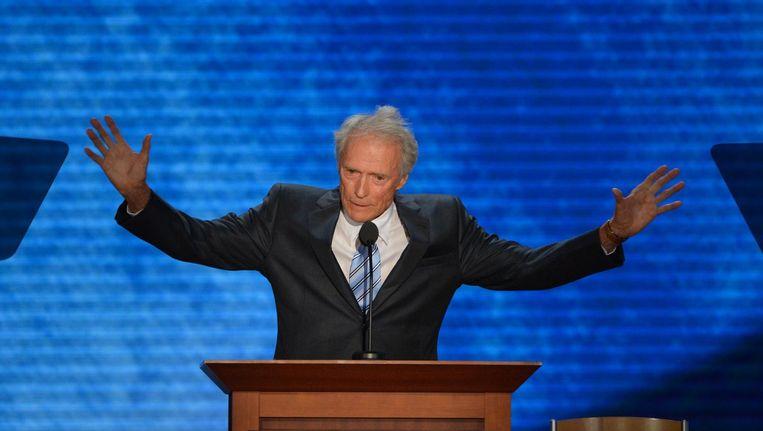 Acteur Clint Eastwood vindt alle ophef over Trumps racistische uitspraken maar niks. 'Fucking get over it.' Beeld afp