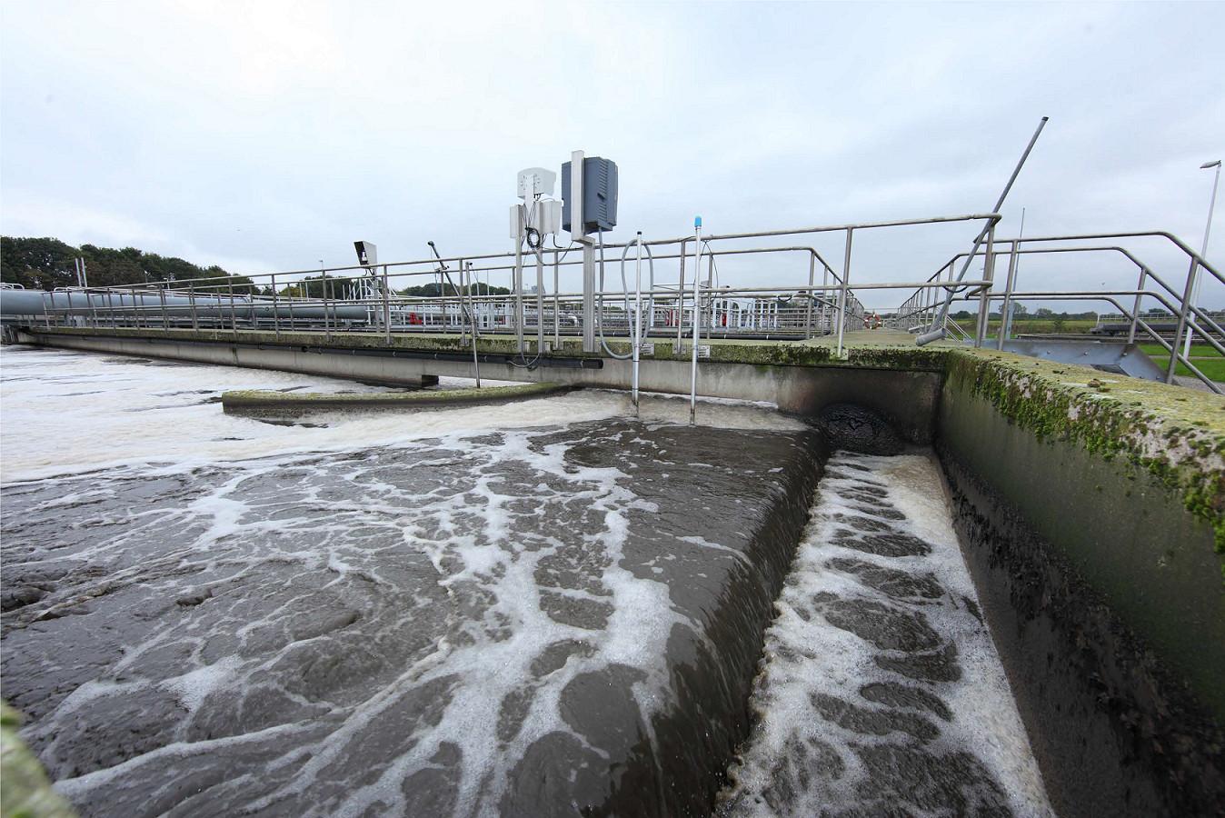 De rioolwaterzuiveringsinstallatie in Raalte.