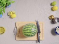 Watermeloen snijden is makkie met deze methode