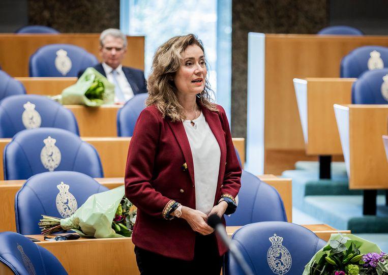 Vera Bergkamp van D66. Beeld Hollandse Hoogte /  ANP