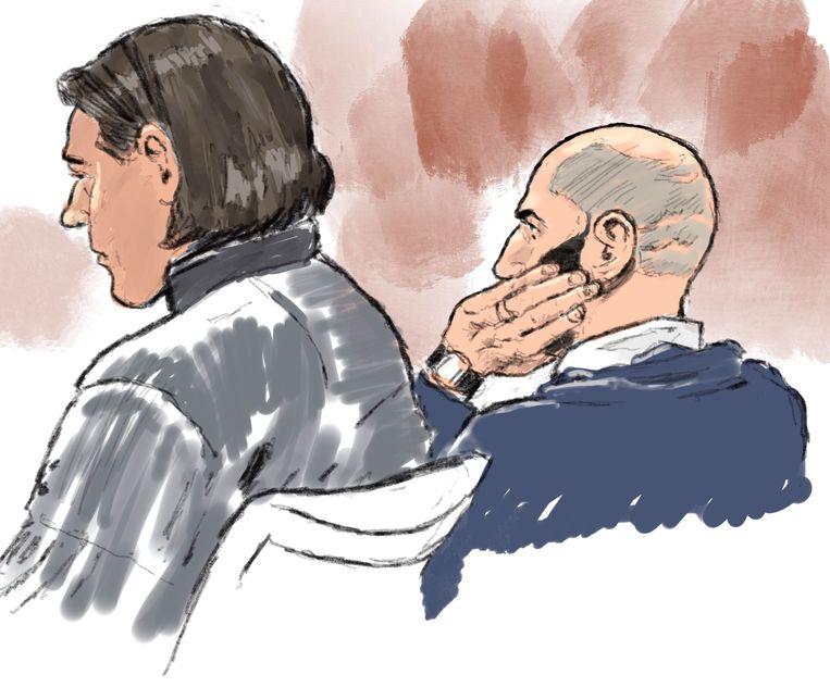 Iliass K. (rechts) was maandag voor het eerst in 3,5 jaar uitvoerig aan het woord in de rechtszaal. Beeld Aloys Oosterwijk/ANP
