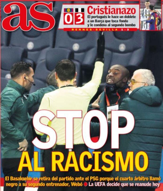 La couverture d'As ce mercredi 9 décembre