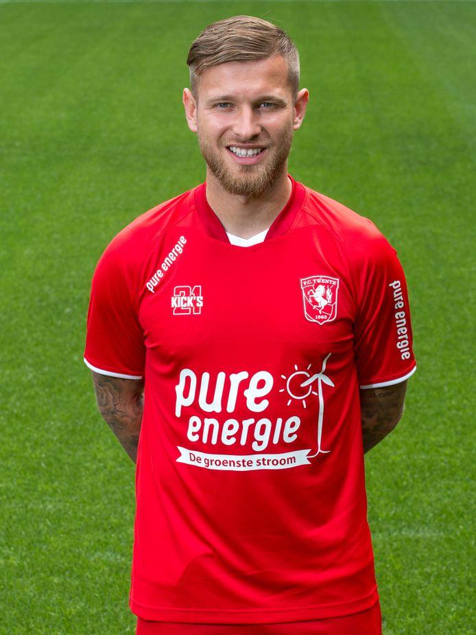 Tim Hölscher in het shirt van  FC Twente.