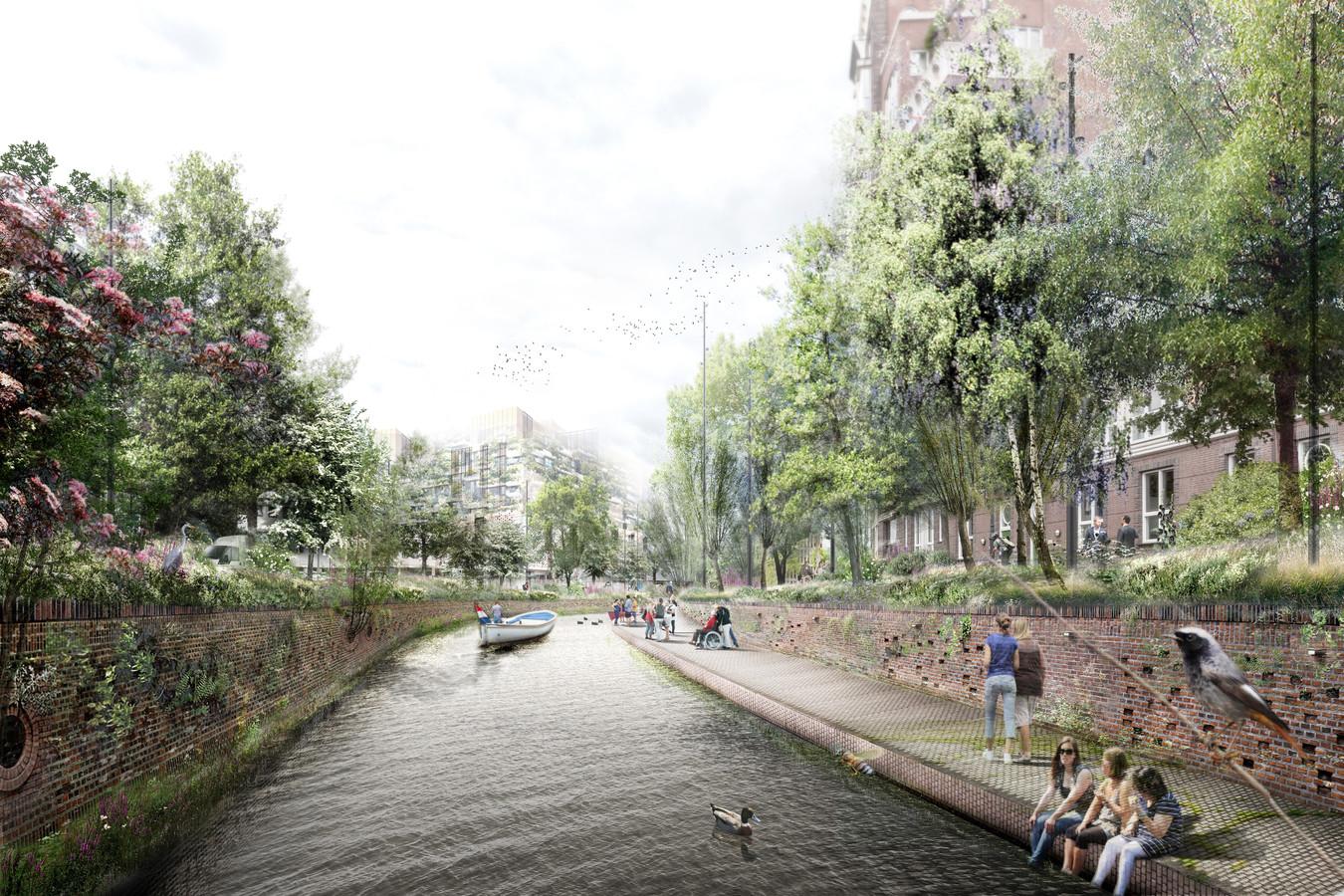 Een toekomstbeeld van de Nieuwe Mark langs de Markendaalseweg in Breda.