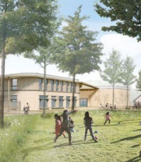 Nieuwe, groene Korenaer verrijst in achtertuin van huidige school in Ussen