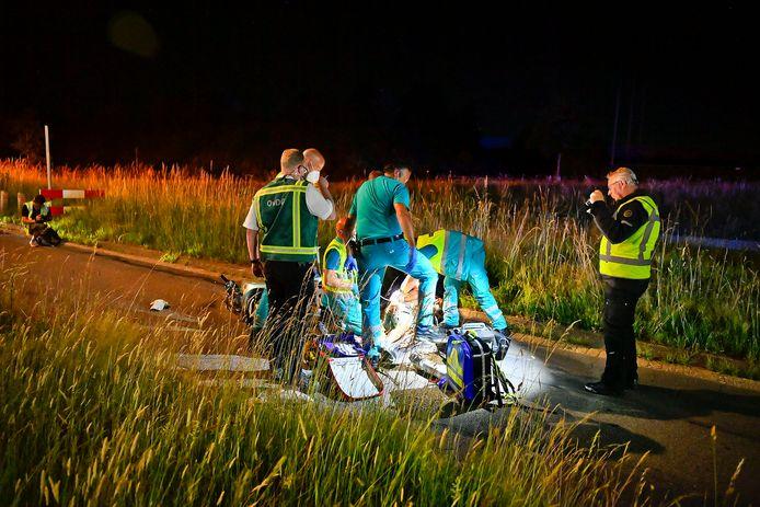 Scooterongeluk in Veldhoven.