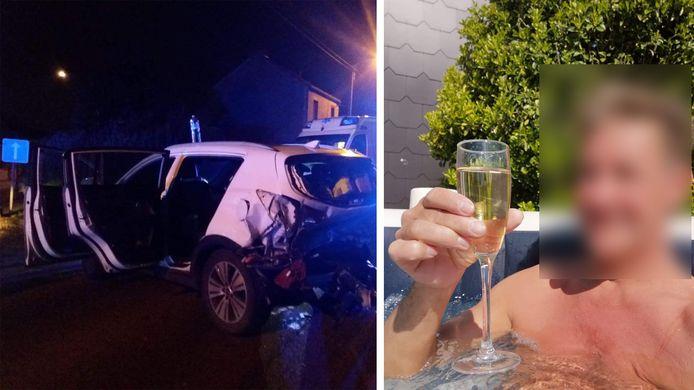 Sous l'influence de l'alcool, Joël n'a pas raté la voiture de Sylvie Bayet à Souvret (Courcelles)